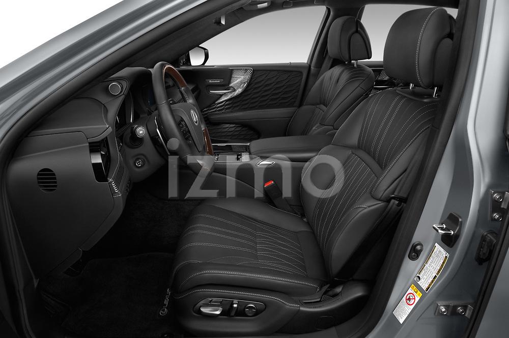 Front seat view of a 2019 Lexus LS 500h 4 Door Sedan front seat car photos