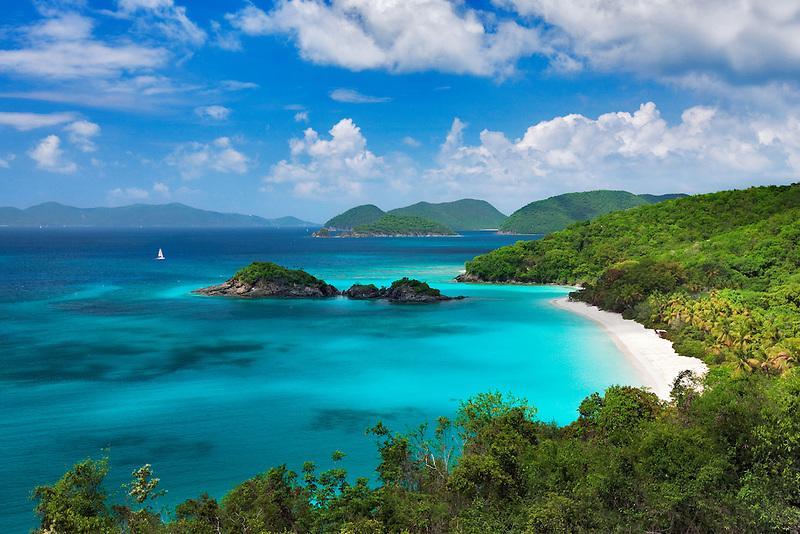 Trunk Beach. St. John Island. US Virgin Islands. Virgin Islands National Park.
