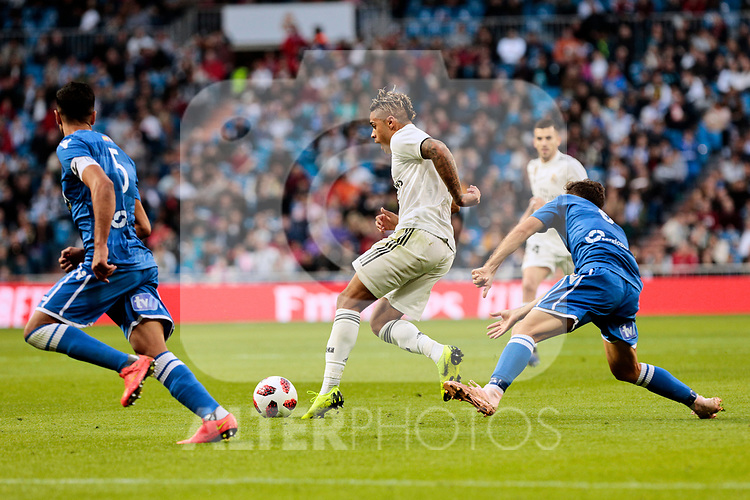 Real Madrid's Mariano Diaz during Copa del Rey match between Real Madrid and UD Melilla at Santiago Bernabeu Stadium in Madrid, Spain. December 06, 2018. (ALTERPHOTOS/A. Perez Meca)