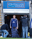 Darren Fletcher coming out the tunnel at Dumbarton as Scotland train for the Euro 2012 Qualifier with Lithuania
