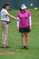 Jane Park (USA) requests a free drop from the rules official on 13 during round 2 of the U.S. Women's Open Championship, Shoal Creek Country Club, at Birmingham, Alabama, USA. 6/1/2018.<br /> Picture: Golffile | Ken Murray<br /> <br /> All photo usage must carry mandatory copyright credit (&copy; Golffile | Ken Murray)