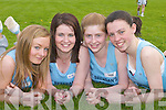 St Brendans ladies who ran in the County Athletic Championships in Castleisland last Saturday. L-r: Bernie OFlaherty, Kerina Carroll, Catherine McCarthy and Ailbhe Courtney..