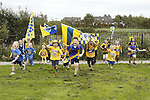 27/09/2013 Clare fans led by Eoin Dinan, Liam Hughes and Ryan Whyte at Lissaniska, Claureen, Ennis. Picture: Don Moloney / Press 22