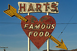 Harts diner sign on Highway 15 north of Los Angeles, CA