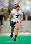 5 April 2008: University of Vermont Catamounts' Attackman Sarah DeStefano, a Junior from Eliot, ME, in action against the University at Albany Great Danes at Moulton Winder Field, in Burlington, Vermont. With only seconds left in regulation time, the Catamounts rallied to defeat the visiting Danes 11-10 in America East conference play...Mandatory Photo Credit: Ed Wolfstein Photo