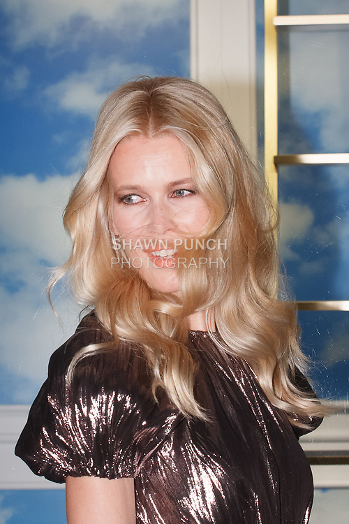 Supermodel and designer Claudia Schiffer arrives at her Claudia Schiffer for Aquazzura launch event at Saks Fifth Avenue, at 611 Fifth Avenue, in New York City on October 17, 2017.