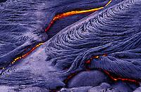 Fresh pahoehoe lava