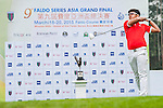 Shubham Narain of India tees off at tee one during the 9th Faldo Series Asia Grand Final 2014 golf tournament on March 18, 2015 at Faldo course in Mid Valley clubhouse in Shenzhen, China. Photo by Xaume Olleros / Power Sport Images