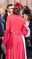 11 March 2019 - London, England - Kate Duchess of Cambridge Catherine Katherine Middleton and Meghan Markle Duchess of Sussex during a Commonwealth Day Service held at Westminster Abbey. Photo Credit: ALPR/AdMedia