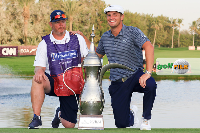 Bryson Dechambeau (USA) winner of the Omega Dubai Desert Classic, Emirates Golf Club, Dubai,  United Arab Emirates. 27/01/2019<br /> Picture: Golffile | Thos Caffrey<br /> <br /> <br /> All photo usage must carry mandatory copyright credit (© Golffile | Thos Caffrey)