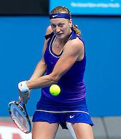 PETRA KVITOVA (CZE) against SARA ERRANI (ITA) in the Quarter Finals of the Women's Singles. Petra Kvitova beat Sara Errani 6-4 6-4 ..25/01/2012, 25th January 2012, 25.01.2012 - Day 10..The Australian Open, Melbourne Park, Melbourne,Victoria, Australia.@AMN IMAGES, Frey, Advantage Media Network, 30, Cleveland Street, London, W1T 4JD .Tel - +44 208 947 0100..email - mfrey@advantagemedianet.com..www.amnimages.photoshelter.com.