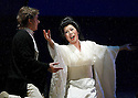 2003 - MADAME BUTTERFLY - L to R Pinkerton (Misha Didyk) and Madame Butterfly (Xiu-Wei-Sun) in Opera Pacific's production of Madame Butterfly.