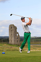 Jack Howard (Fota Island) on the 13th tee during Round 2 of The South of Ireland in Lahinch Golf Club on Sunday 27th July 2014.<br /> Picture:  Thos Caffrey / www.golffile.ie