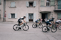 eventual winner Edvald Boasson Hagen (NOR/Dimension Data) riding in the back of the breakaway group as they ride through the town of Sisteron<br /> <br /> 104th Tour de France 2017<br /> Stage 19 - Embrun &rsaquo; Salon-de-Provence (220km)