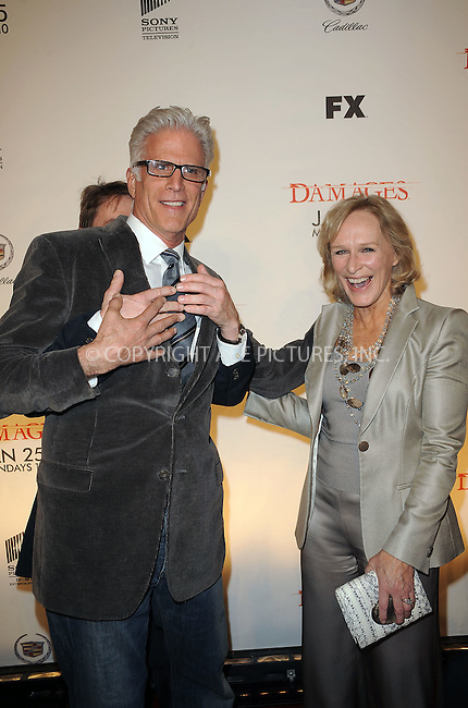 WWW.ACEPIXS.COM . . . . . ....January 19 2010, New York City....Actors Ted Danson and Glenn Close arriving at the Season 3 premiere of 'Damages' at the AXA Equitable Center on January 19, 2010 in New York City.....Please byline: KRISTIN CALLAHAN - ACEPIXS.COM.. . . . . . ..Ace Pictures, Inc:  ..tel: (212) 243 8787 or (646) 769 0430..e-mail: info@acepixs.com..web: http://www.acepixs.com