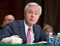 John G. Stumpf, Chairman and CEO, Wells Fargo & Company, testifies before the United States Senate Committee on Banking, Housing and Urban Affairs during the hearing to examine Wells Fargoís unauthorized accounts and the regulatory response on Capitol Hill in Washington, DC on Tuesday, September 20, 2016. Photo Credit: Ron Sachs/CNP/AdMedia