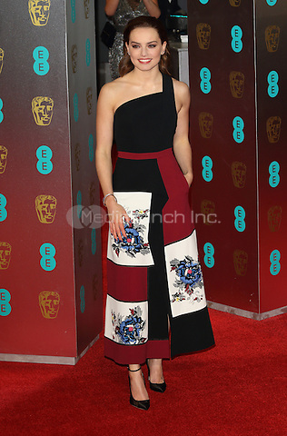 Daisy Ridley at the 70th British Academy Awards - BAFTAS - arrivals at the Royal Albert Hall, London on February 12th 2017<br /> CAP/ROS<br /> &copy;Steve Ross/Capital Pictures /MediaPunch ***NORTH AND SOUTH AMERICAS ONLY***