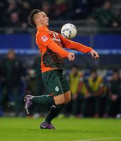 FUSSBALL   1. BUNDESLIGA   SAISON 2011/2012   22. SPIELTAG Hamburger SV - Werder Bremen       18.02.2012 Marko Arnautovic (SV Werder Bremen)  Einzelaktion am Ball