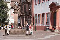 Europe/Allemagne/Bade-Würrtemberg/Heidelberg: Place de l'Université et Fontaine aux Lions