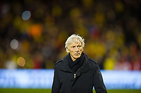 Colombia manager Jose Pekerman before the International Friendly match between Colombia and Australia at Craven Cottage, London, England on 27 March 2018. Photo by Andrew Aleksiejczuk / PRiME Media Images.