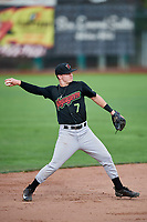 David Cronin (7) of the Great Falls Voyagers during the game against the Ogden Raptors at Lindquist Field on September 14, 2017 in Ogden, Utah. The Raptors defeated the Voyagers 7-4 in Game One of the Pioneer League Championship. (Stephen Smith/Four Seam Images)