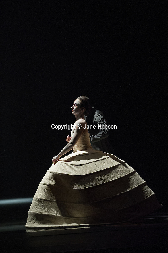 London, UK. 28.05.2013. Akram Khan Company presents the new production iTMOI (In the Mind of Igor) at Sadler's Wells. Material devised and performed by: Kristina Alleyne, Sade Alleyne, Ching-Ying Chien, Sung Hoon Kim, Denis Kuhnert, Hannes Langolf, Yen-Ching Lin, TJ Lowe, Christine Joy Ritter, Catherine Schaub Abkarian, Andrej Petrovic. Lighting design by Fabiana Piccioli. Music by Nitin Sawhney. Picture shows: Catherine Schaub Abkarian. Photograph © Jane Hobson.