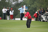 Smurfit Kappa European Open..Wales Stephen Dodd playing his second on the ninth during the final round of the European Open in the K Club..Photo: Fran Caffrey/ Newsfile.