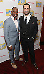 Arbender Robinson and Adam Bashian attends the Broadway Opening Night Performance Press Reception for  'In Transit' at Circle in the Square Theatre on December 11, 2016 in New York City.