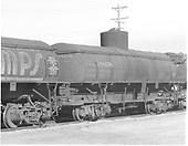 UTLX 88108 tank car in line of tank cars at Alamosa.<br /> D&amp;RGW  Alamosa, CO  Taken by Richardson, Robert W. - 2/1950
