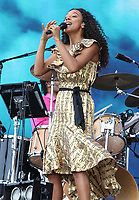 Corinne Bailey Rae performs at British Summertime at Hyde Park. London on July 6th 2019<br /> <br /> Photo by Keith Mayhew