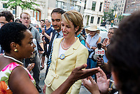 New York, NY 26 AUG 2014 - Gubernatorial candidate Zephyr Teachout and Tim Wu endorsed by the National Organization of Women ©Stacy Walsh Rosenstock/Alamy Live News