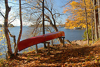 Having paddled safely back to the Canadian side of the St. Lawrence River, I store the canoe in its rightful berth along the idyllic shoreline of the 1000 Islands Parkway in Southern Ontario.