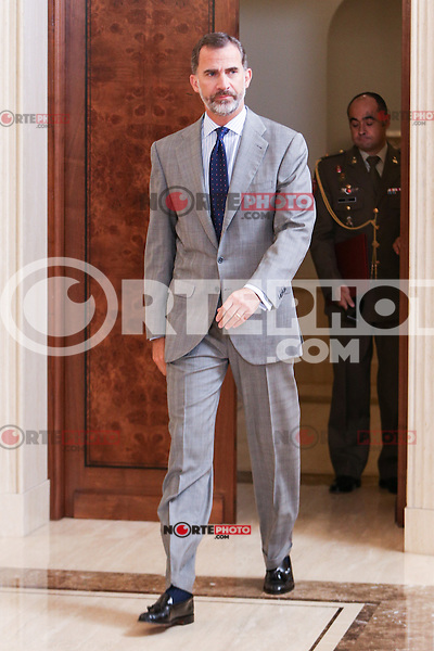 Spanish Queen Letizia during the audience with the  executive board national spanish assoccition against cancer (AECC) at Zarzuela Palace in Madrid. September 08, 2016. (ALTERPHOTOS/Rodrigo Jimenez/NORTEPHOTO.COM)