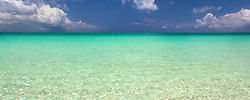 Simple view of the aquamarine waters of the Caribbean.