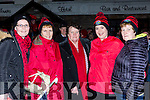 Breda Courtney, Maureen and Kathleen Courtney, Catriona Murphy and Helen McGillicuddy at the Glenbeigh/Glencar team homecoming in Glenbeigh on Monday night