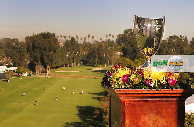 15 FEB 13  The Trophy overlooking the 1st fairway at Riviera Country Club in Pacific Palisades,California. photo credit :  (kenneth e. dennis/kendennisphoto.com)
