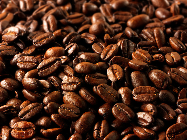 Papua New Guinea fair trade coffee beans stock Photos