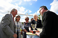 Connections of Billesdon Bess share a joke after the trophy presentation for winning The British Stallion Studs EBF Margadale Fillies Handicap, during Afternoon Racing at Salisbury Racecourse on 13th June 2017