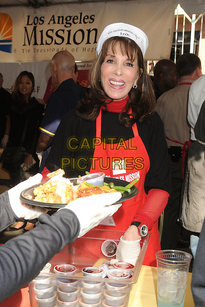 25 November 2015 - Los Angeles, California - Kate Linder. 2015 Los Angeles Mission Thanksgiving Meal for the Homeless held at the LA Mission. <br /> CAP/ADM/BP<br /> &copy;BP/ADM/Capital Pictures