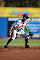 St. Lucie Mets shortstop J.C. Rodriguez (35) during a game against the Dunedin Blue Jays on April 20, 2017 at Florida Auto Exchange Stadium in Dunedin, Florida.  Dunedin defeated St. Lucie 6-4.  (Mike Janes/Four Seam Images)