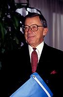 FILE PHOTO - Gerard D Levesque en avril 1992<br /> <br /> PHOTO :   Agence quebec Presse