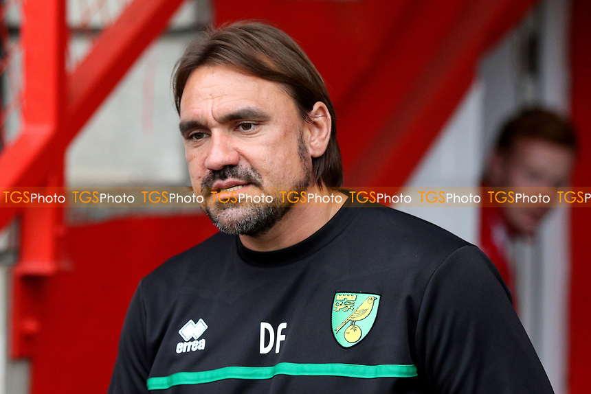 Norwich Manager, Daniel Farke during Stevenage vs Norwich City, Friendly Match Football at the Lamex Stadium on 11th July 2017