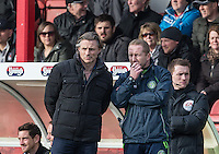 Wycombe Wanderers Manager Gareth Ainsworth & Wycombe Wanderers Assistant Manager Richard Dobson during the Sky Bet League 2 match between Grimsby Town and Wycombe Wanderers at Blundell Park, Cleethorpes, England on 4 March 2017. Photo by Andy Rowland / PRiME Media Images.