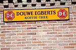 Douwe Egberts old advertising sign, Zuiderzee museum, Enkhuizen, Netherlands