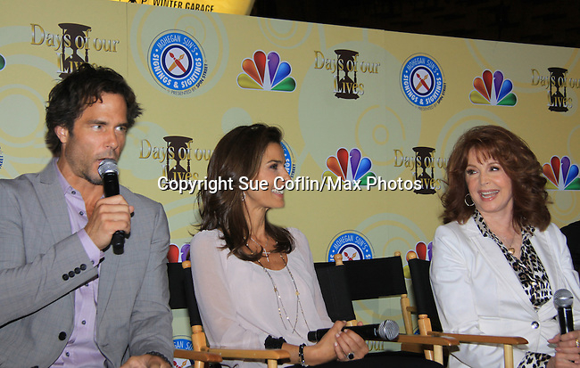 Days Of Our Lives National Tour - Shawn Christian, Kristian Alfonso and Suzanne Rogers on September 23, 2012 at The Shops at Mohegan Sun, Uncasville, Connecticut. (Photo by Sue Coflin/Max Photos)
