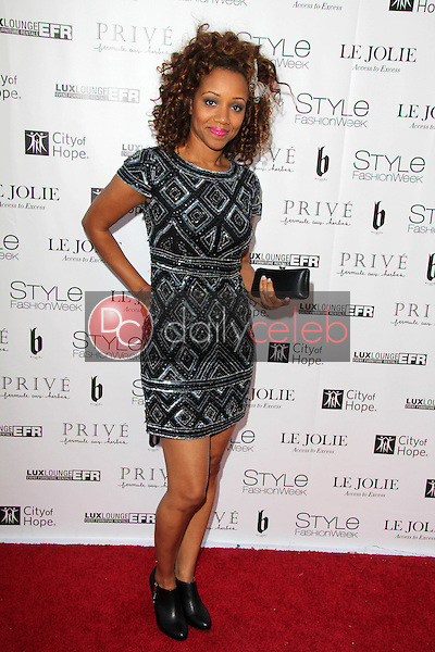 Chrystee Pharris<br /> at Sue Wong's 'Fairies and Sirens' Fashion Show at L.A. Fashion Week. The Reef, Los Angeles, CA 10-15-14<br /> David Edwards/Dailyceleb.com 818-249-4998