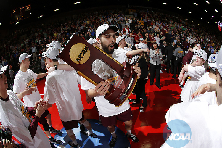 03 MAY 2014:  Loyola of Chicago takes on Stanford University during the Division I Men's Volleyball Championship held at Gentile Arena in Chicago, IL.  Loyola defeated Stanford 3-1 to win the national title.  Steve Woltmann/NCAA Photos