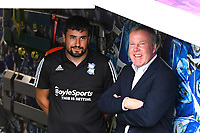 Birmingham City Manager Pep Clote left and Portsmouth Manager Kenny Jackett in the tunnel before kick off during Portsmouth vs Birmingham City, Caraboa Cup Football at Fratton Park on 6th August 2019