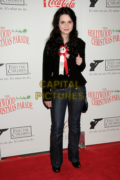 VANESSA MARANO.Hollywood Christmas Parade 2009 Arrivals held at the Roosevelt Hotel, Hollywood, California, USA..November 29th, 2009.full length jeans denim black jacket .CAP/ADM/BP.©Byron Purvis/AdMedia/Capital Pictures.