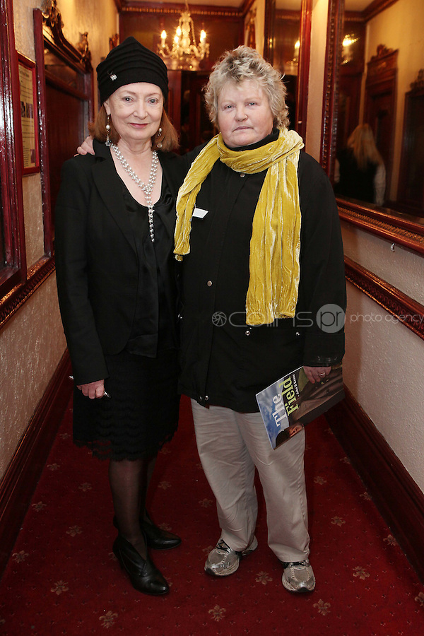 """NO REPRO FEE. 17/1/2010. The Field opening night. Joan Bergin and Brenda Fricker are pictured at the Olympia Theatre for the opening night of John B Keanes 'The Field"""" Picture James Horan/Collins"""